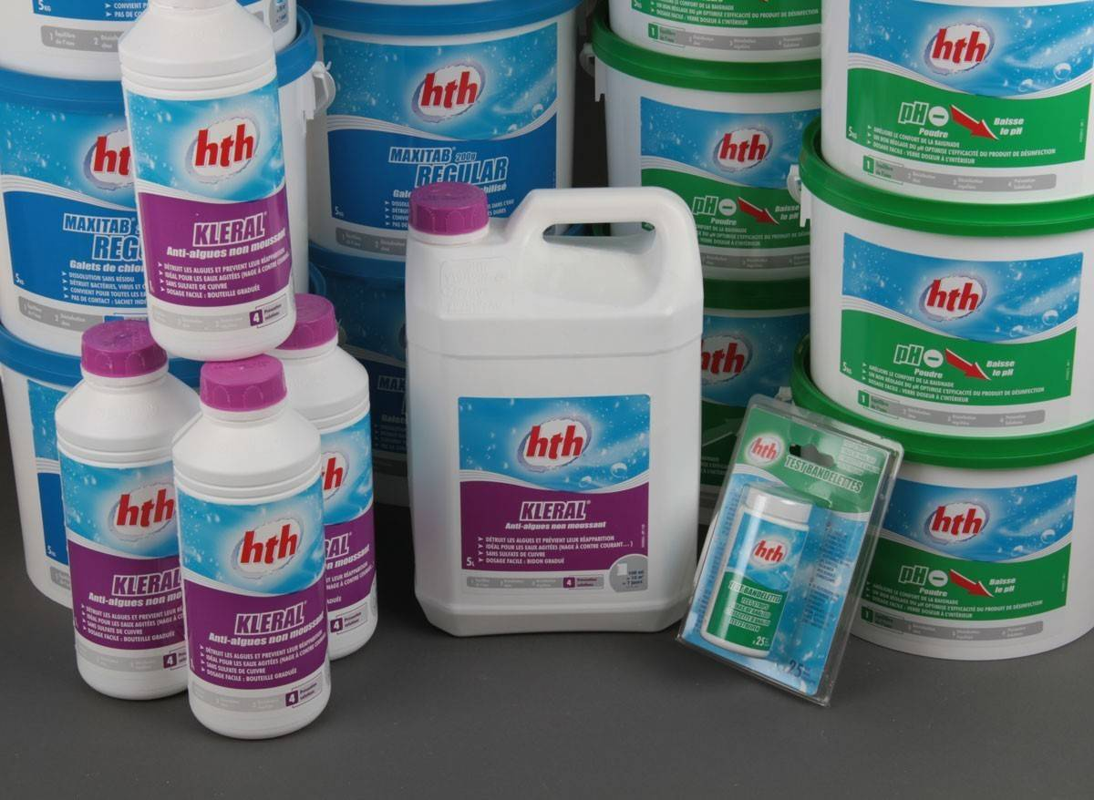Produits de traitement pour votre piscine lyon est piscines for Produit pour piscine